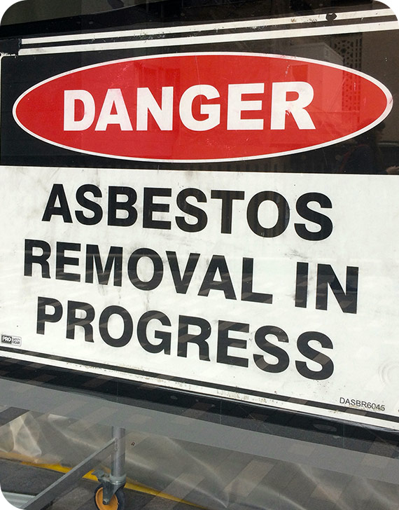 Asbestos Removal Sign | MoldPro | Alberta Asbestos and Mold Removal Specialists