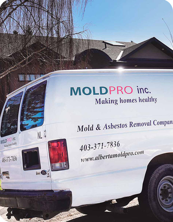 MoldPro Van in the Field | MoldPro | Alberta Asbestos and Mold Removal Specialists